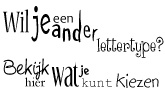 keuze voor een lettertype