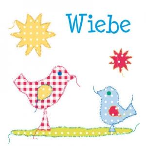 geboortekaartje Babyvogel blauw voor