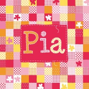 Geboortekaartje letters met blokjes rood