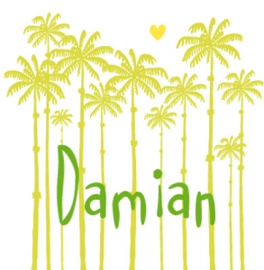 Geboortekaartje palmen