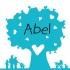 Geboortekaartje hartjesboom blauw