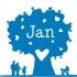 geboortekaartje Hartjesboom donkerblauw-voor