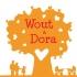 Geboortekaartje hartjesboom oranje