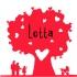 Geboortekaartje hartjesboom