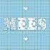 Geboortekaartje letters met blokjes