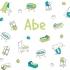 Geboortekaartje strooimeubeltjes groen