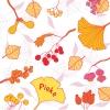 geboortekaartje Herfstbladeren roze voor