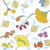 Geboortekaartje herfstbladeren voor