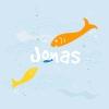 Geboortekaart vissen voor