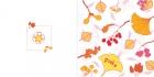 geboortekaartje Herfstbladeren roze buiten