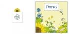 Geboortekaartje bloemen-baby blauw buiten
