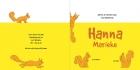 Geboortekaartje eekhoorn geel binnen