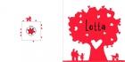 Geboortekaartje hartjesboom buiten