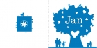 geboortekaartje Hartjesboom donkerblauw-buiten