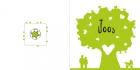 Geboortekaartje hartjesboom groen buiten
