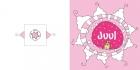 Geboortekaartje kiekeboe-winter roze buiten