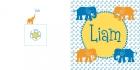 Geboortekaartje olifant buiten