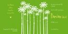 Geboortekaartje palmen binnen