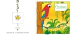 Geboortekaart papegaai buiten