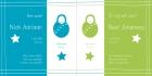 geboortekaartje Tweeling groen-blauw binnen