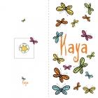 Geboortekaartje vlinders buiten