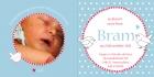 Geboortekaart winterkoninkje binnen