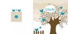 geboortekaartje Winterwilg-blauw-buiten