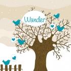 geboortekaartje Winterwilg-blauw-voor